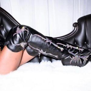 Phoenix | Rhinestone Thigh High Boots